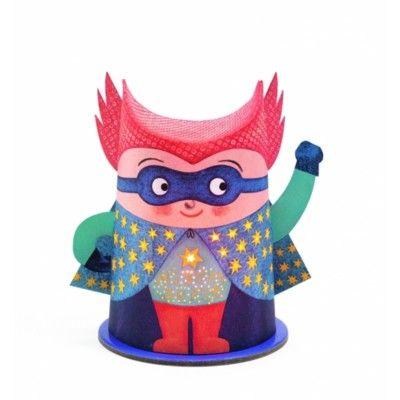 Natlampe - superhelt - Djeco