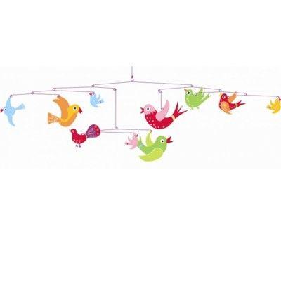 Uro i træ - farverige fugle i flugt - Djeco