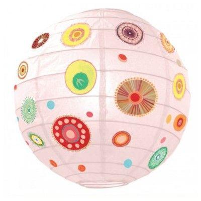 Rislampe - farverige cirkler