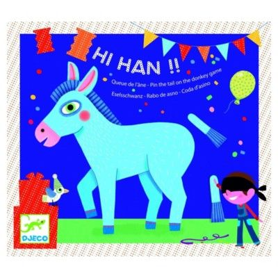 Spil - sæt halen på æslet - perfekt til børnfødselsdagen - Djeco