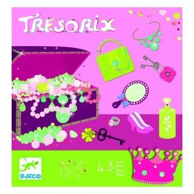 Spil - skattejakt lyserød - sjov på børnefødselsdagen - Djeco