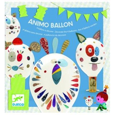 Ballonfigurer med klistermærker - djur - Djeco
