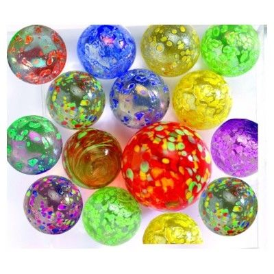 Glaskugler - prikker i forskellige farver