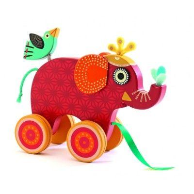 Trækdyr - elefanten Indy - Djeco