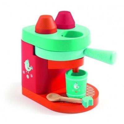 Legemad - kaffemaskine i træ - Djeco