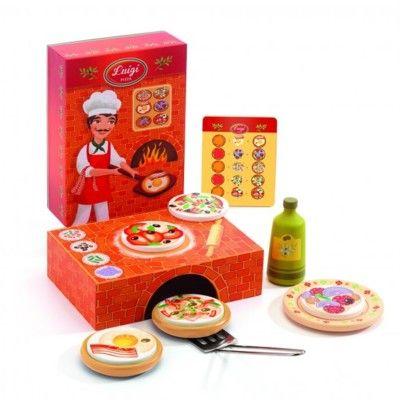 Legemad - pizza i træ - Djeco