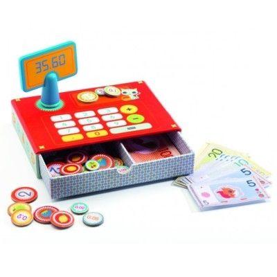Kasseapparat med legetøjspenge - Djeco