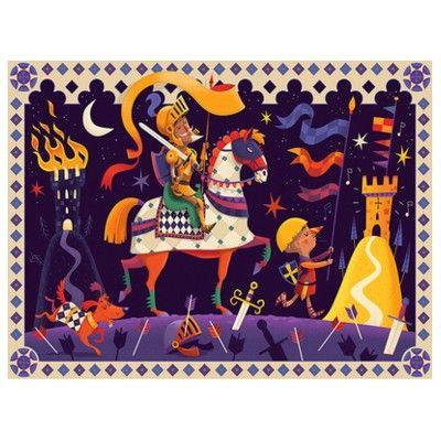 Puslespil i siluetæske - Don Quijote - 36 brikker - Djeco