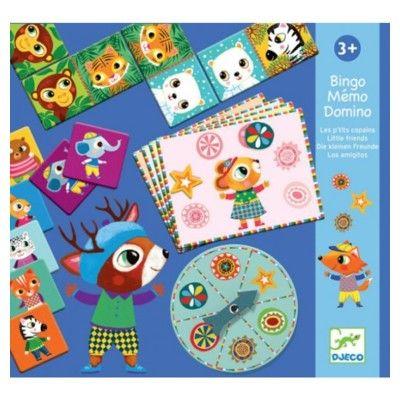 Spil - 3 i 1 - Bingo, memory, domino - Djeco