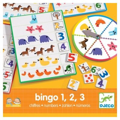 Spil - Bingo, 1 2 3 - Djeco