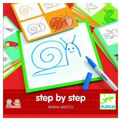 Tegn - Step by step - Animo and Co - Djeco