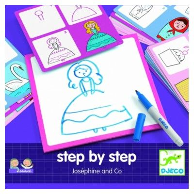 Tegn - Step by step - Joséphine and Co - Djeco