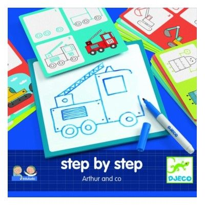 Tegn - Step by step - Arthur and Co - Djeco