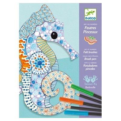 Farvelægning og tegning - tuscher og farveblyanter - Djeco
