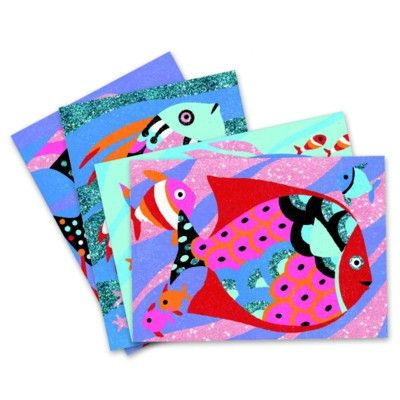 Mal efter nummer - Fisk i regnbuens farver - Djeco