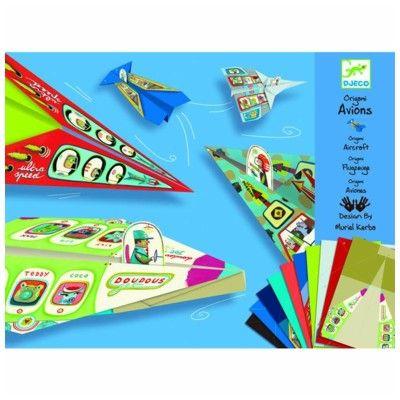 Origami - Flyvemaskiner - blå - Djeco