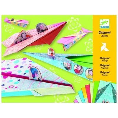 Origami - Flyvemaskiner - gul - Djeco