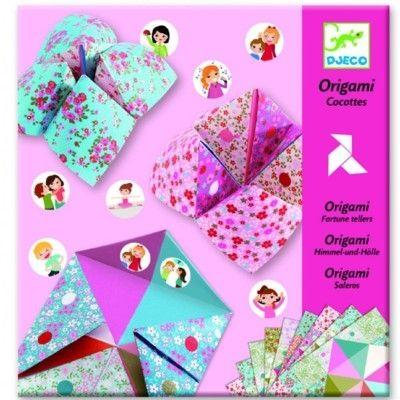 Origami - folde papir - lyserød - Djeco