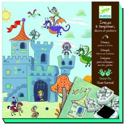 Stempler og skabeloner - Riddere - Djeco