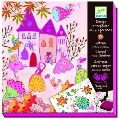 Stempler og skabeloner - Prinsesse - Djeco