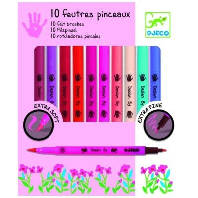 Tudser i filt - pastelfarver - Djeco