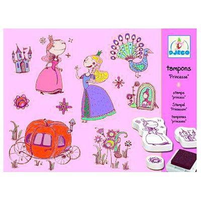 Stempelsæt med prinsesser - Djeco