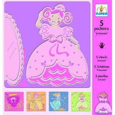 Tegneskabeloner - prinsesser - Djeco
