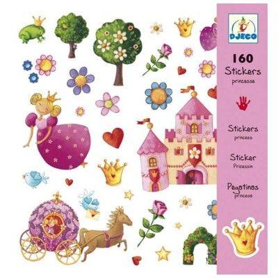 Klistermærker - prinsesse - Djeco