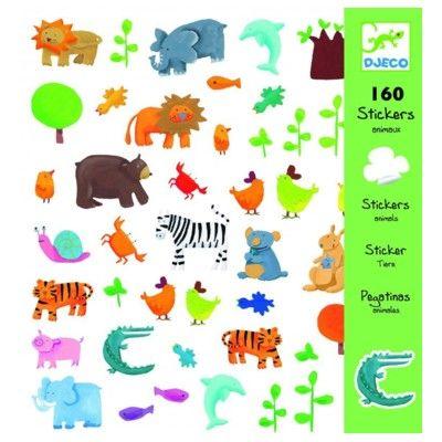 Klistermærker - alle dyr - Djeco