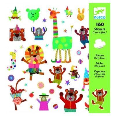 Klistermærker - party dyr