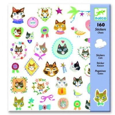 Klistermærker - katte - Djeco