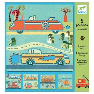 Tegnesæt med skabeloner - biler
