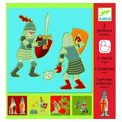 Tegnesæt med skabeloner, ridder - Djeco