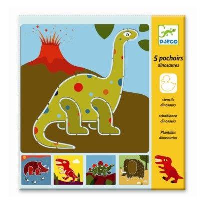 Tegnesæt med skabeloner, dinosaurer - Djeco