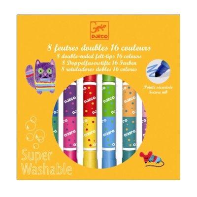 Tudser i filt - 8 tudser = 16 farver - Djeco