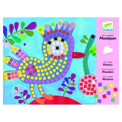 Mosaik - fugl og mariehøne - Djeco