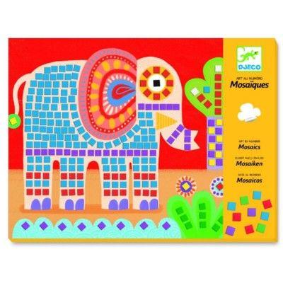 Mosaik - elefant og snegl - Djeco
