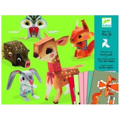 Lav dine egne figurer i pap - dyr fra skoven - Djeco