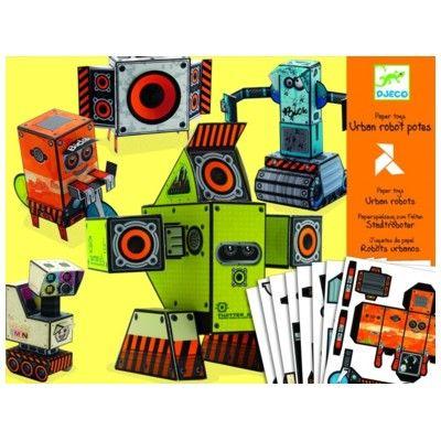 Lav egne figurer i pap - robotter
