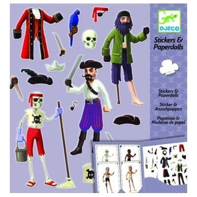 Påklædningsdukker i papir - pirater