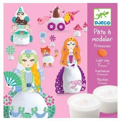 Modellervoks-  sæt med prinsesser - Djeco