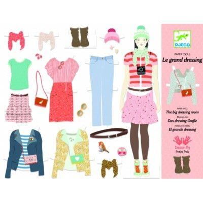 Påklædningsdukker - Det store klædeskab