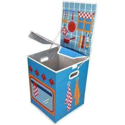 Opbevaringskasse - blåt komfur
