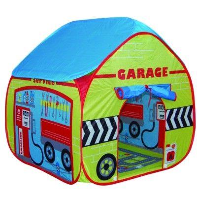 Legetelt - pop up model af en garage