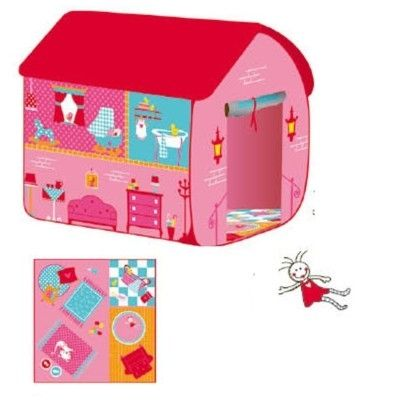 Legetelt - pop up model af et dukkehus