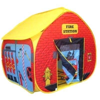 Legetelt - pop up model af en brandstation