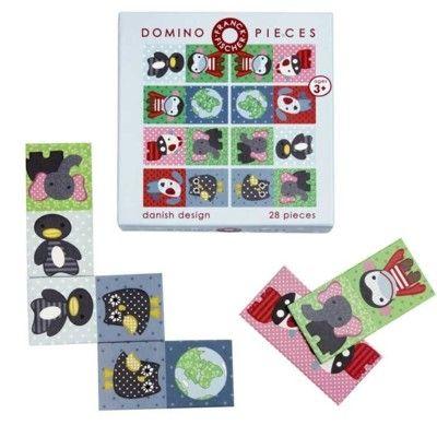 Domino med dyr i flot design - økologisk fra Franck & Fischer