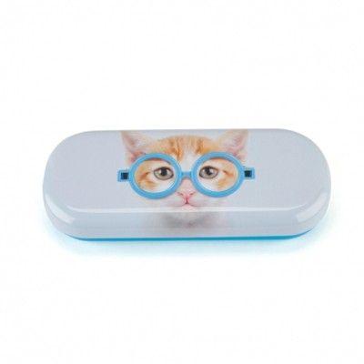 Brilleetui - kat med blå briller