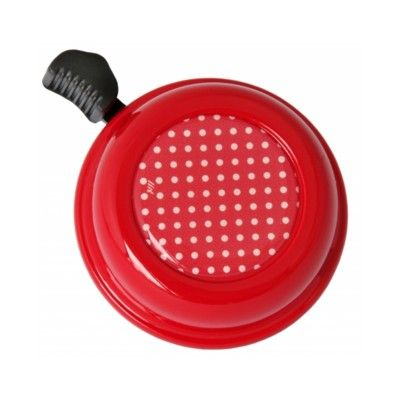 Ringeklokke til cykel - rød med polkadots - Liix