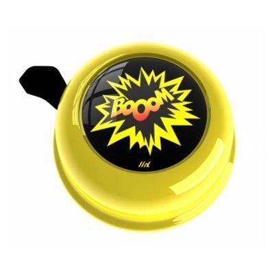 Ringeklokke til cykel - gul med booom - Liix